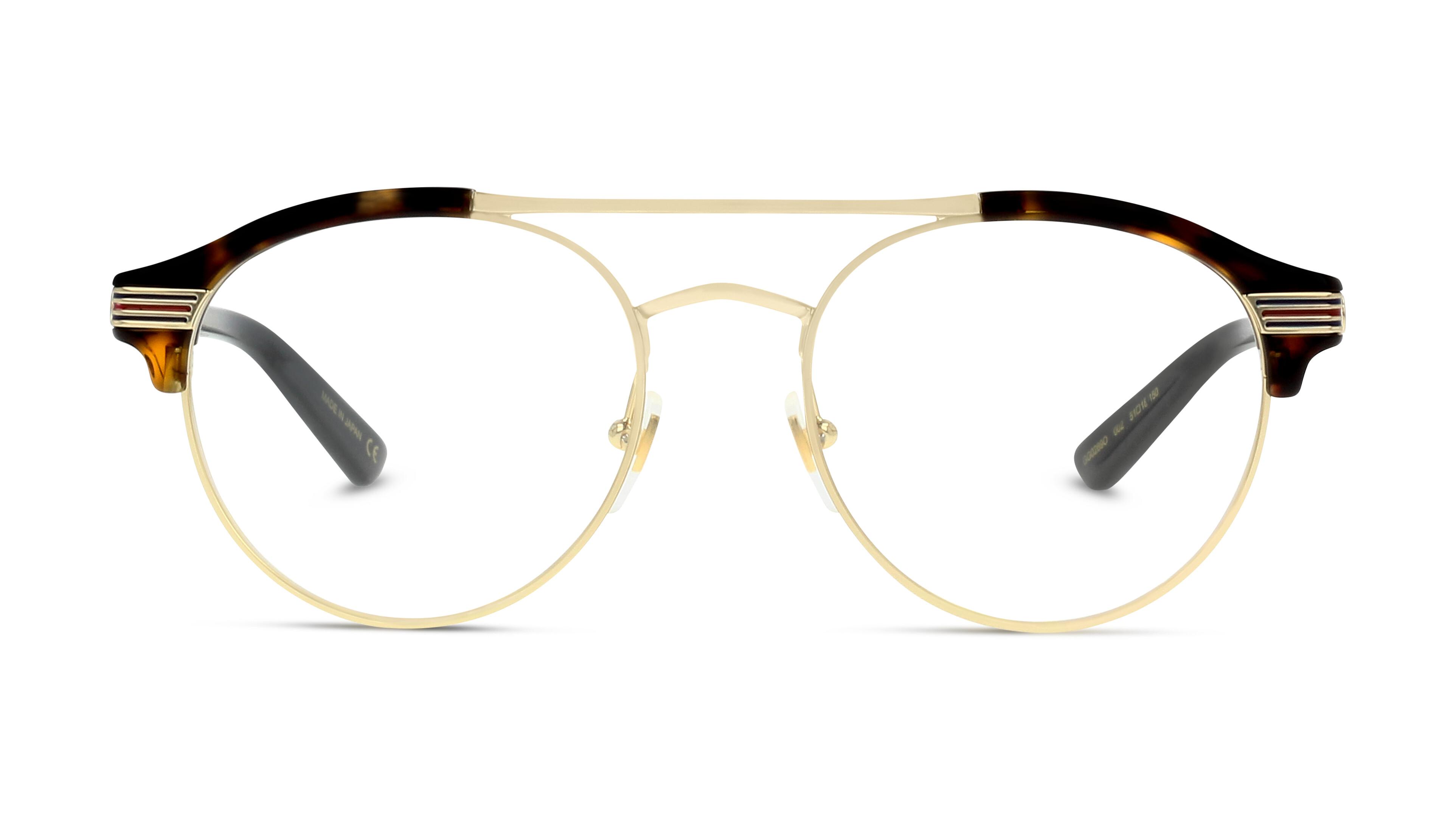 8056376156249-front-brillenfassung-gucci-gg0289o-havana-gold-transparent