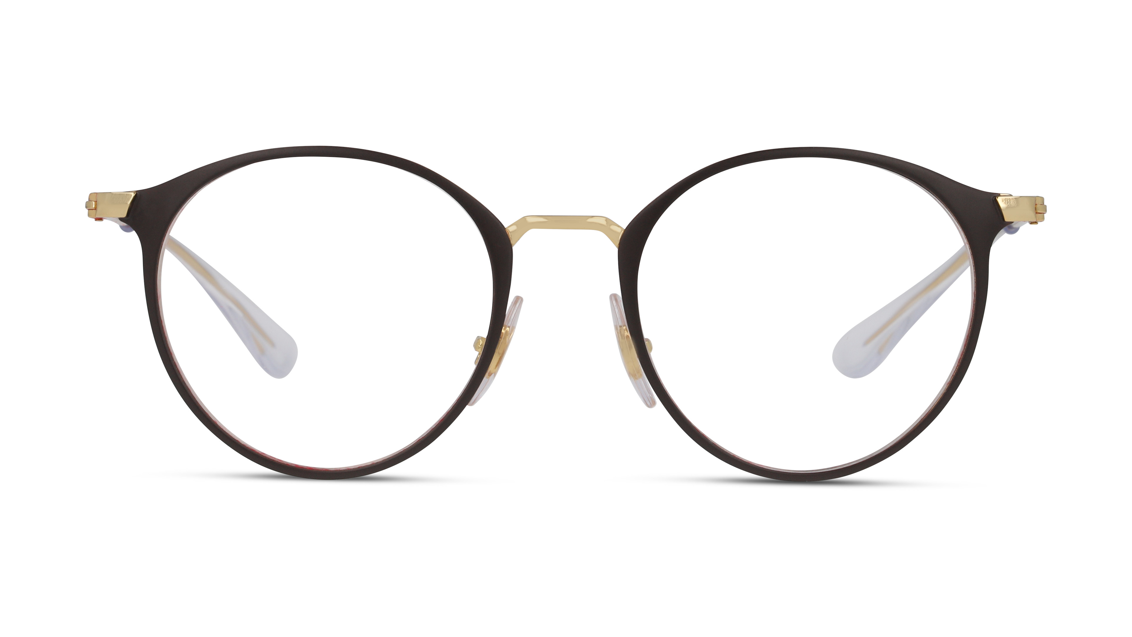 8056597266055-front-Ray-Ban-Brillenfassung-0ry1053-gold-on-top-matte-brown